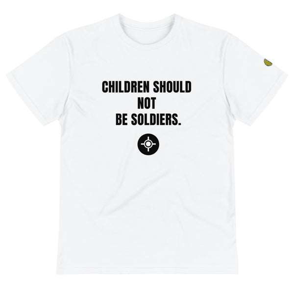 CHILDREN ARE NOT SOLDIERS - Mens W Sustainable T-Shirt yosicollective.myshopify.com