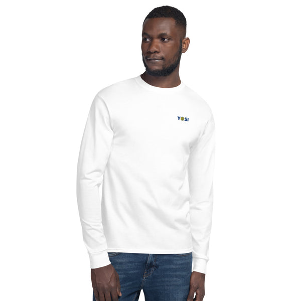 yosicollective,YOSI x Champion - Flagship Logo - Long Sleeve Shirt - White
