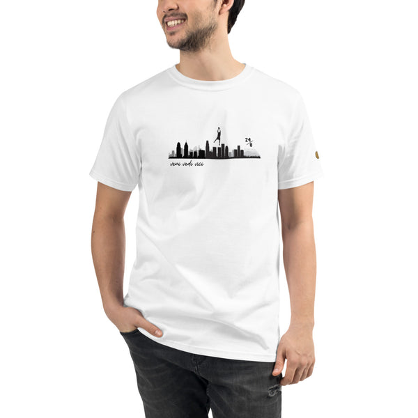 yosicollective,Skyline of Legends - Unisex 100% Certified Organic Cotton T-Shirt