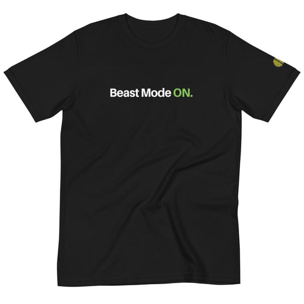 Beast Mode ON - Mens B 100% Organic T-Shirt yosicollective.myshopify.com