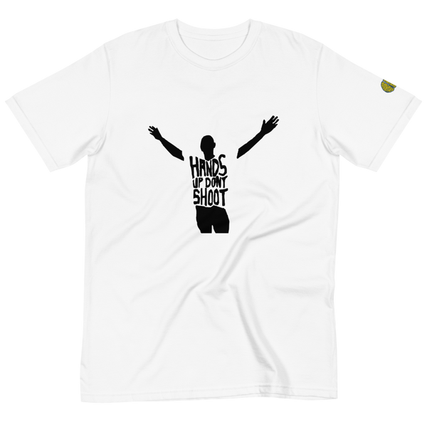 HANDS UP DONT SHOOT - Mens W 100% Organic T-Shirt yosicollective.myshopify.com