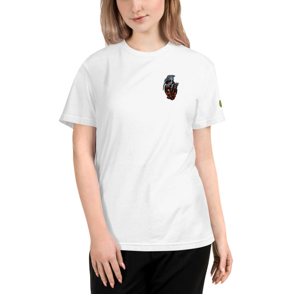 yosicollective,Flagship - Love Grenade - Unisex BW Sustainable T-Shirt