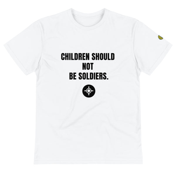CHILDREN ARE NOT SOLDIERS - Womens W Sustainable T-Shirt yosicollective.myshopify.com