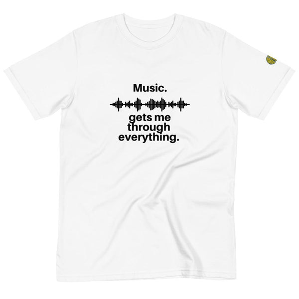 Music Gets Me - Womens W 100% Organic T-Shirt yosicollective.myshopify.com