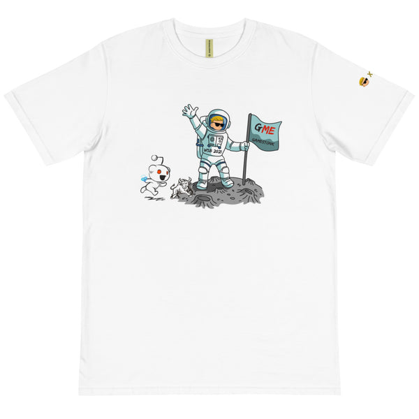 Gamestonk on the Moon - Unisex 100% Organic T-Shirt