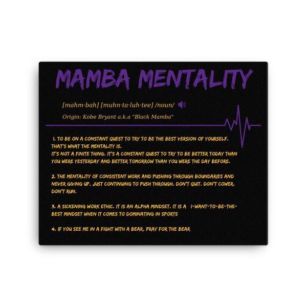 yosicollective,Mamba Mentality Defined - Eco Friendly Canvas Art