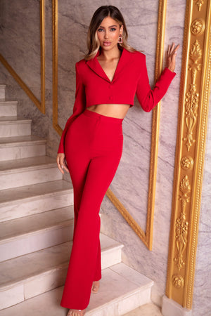 Red OhPolly Suit Set