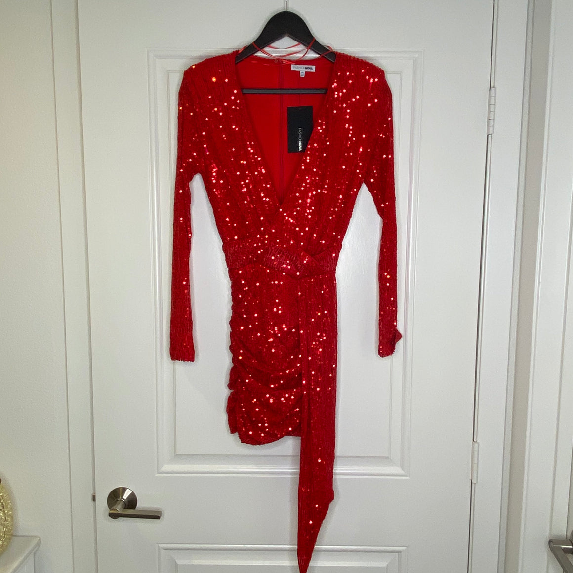 Red Fashionova Sequin Dress