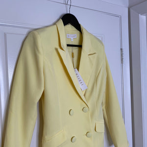 Yellow Meshki Blazer Dress