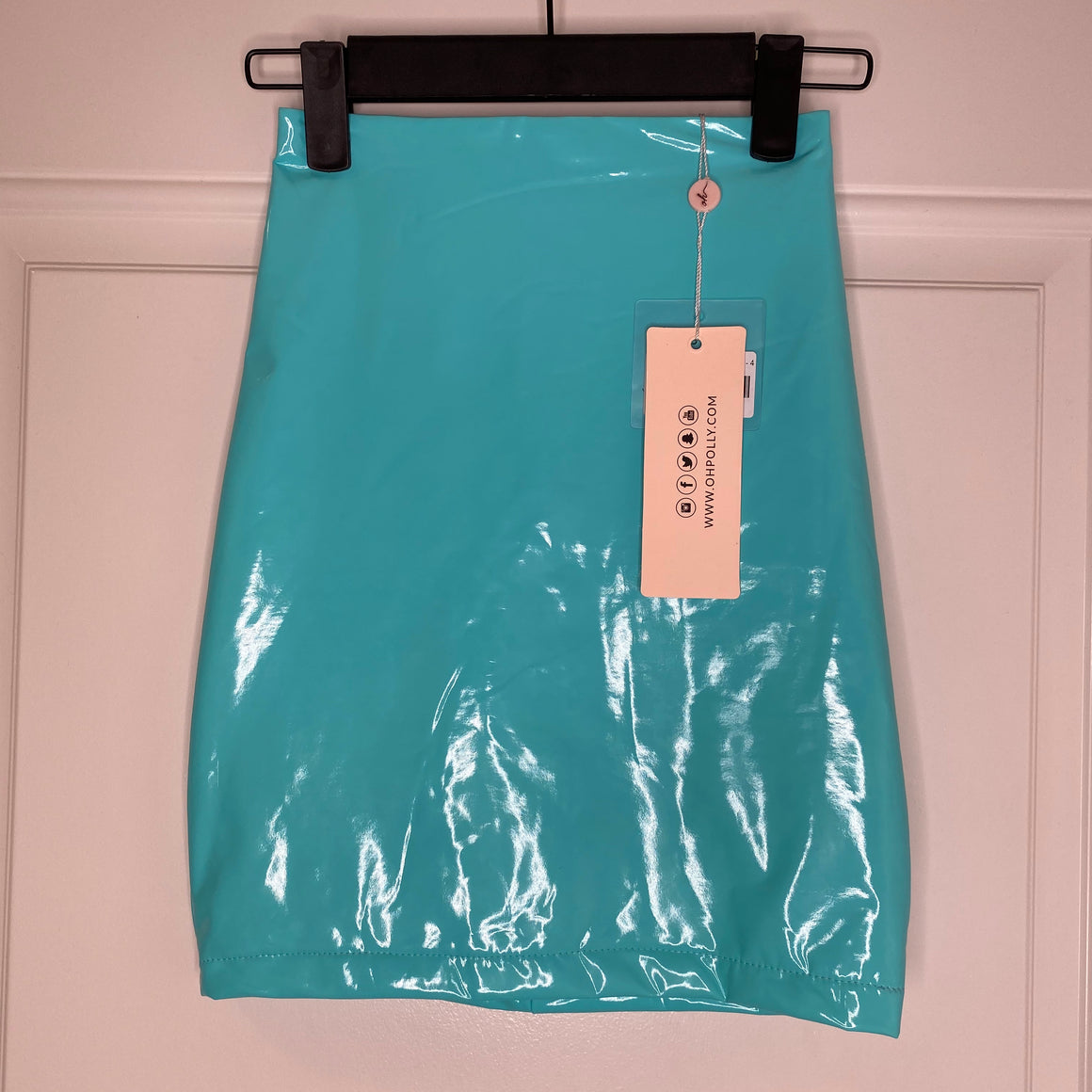 Turquoise Ohpolly Vinyl Skirt