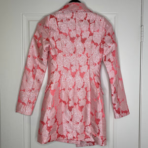 Pink Floral Fashionova Long Sleeve Blazer Dress