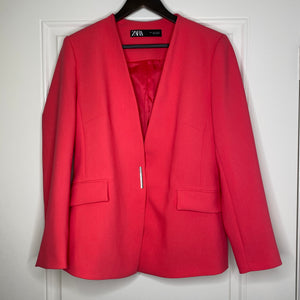 Hot Pink Zara Oversized Blazer Suit Set