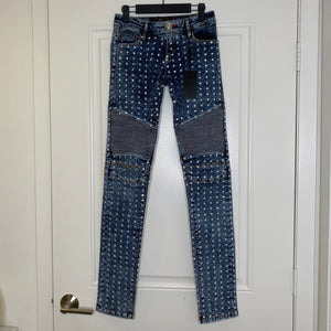 Denim Crystal Philipp Plein Biker Jeans