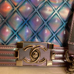CHANEL 2018 S/S MERMAID SMALL BOY FLAP BAG IRIDESCENT RARE