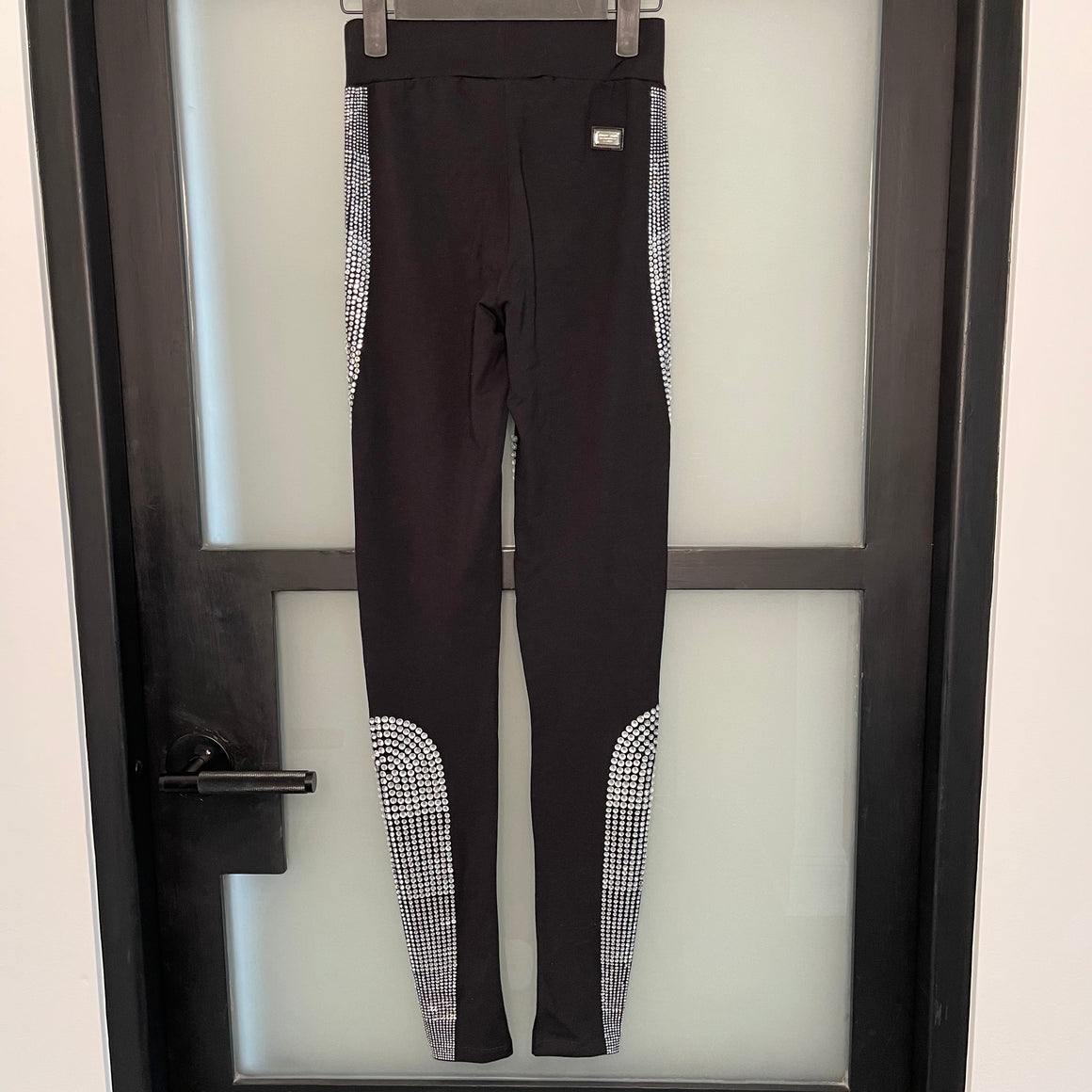 Black With Silver Crystal Philipp Plein Leggings