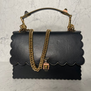 Black Fendi Kan I Box Handbag