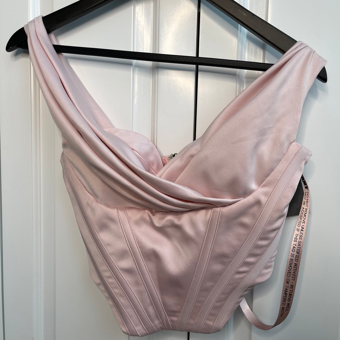 Soft Pink Satin House Of CB Bustier