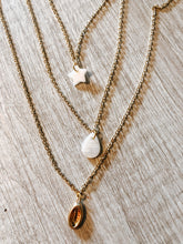Load image into Gallery viewer, Gold cowrie shell charm necklace