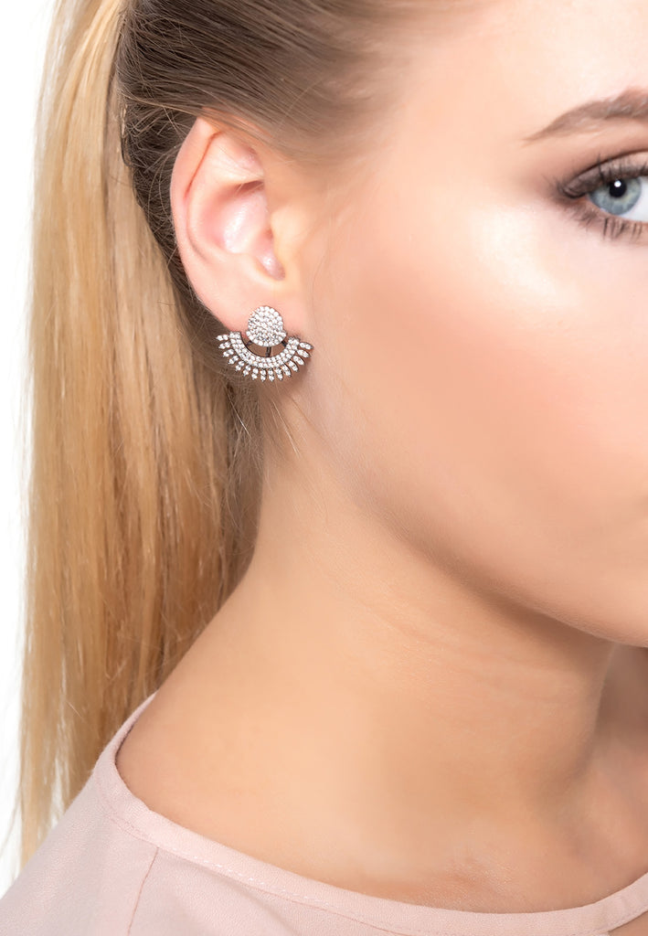 LATELITA jewellery ear jacket and stud earring sterling silver