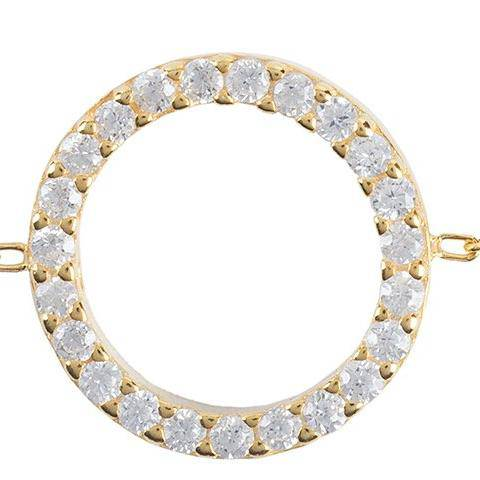 Halo Sparkling Circle Bracelet Gold - LATELITA