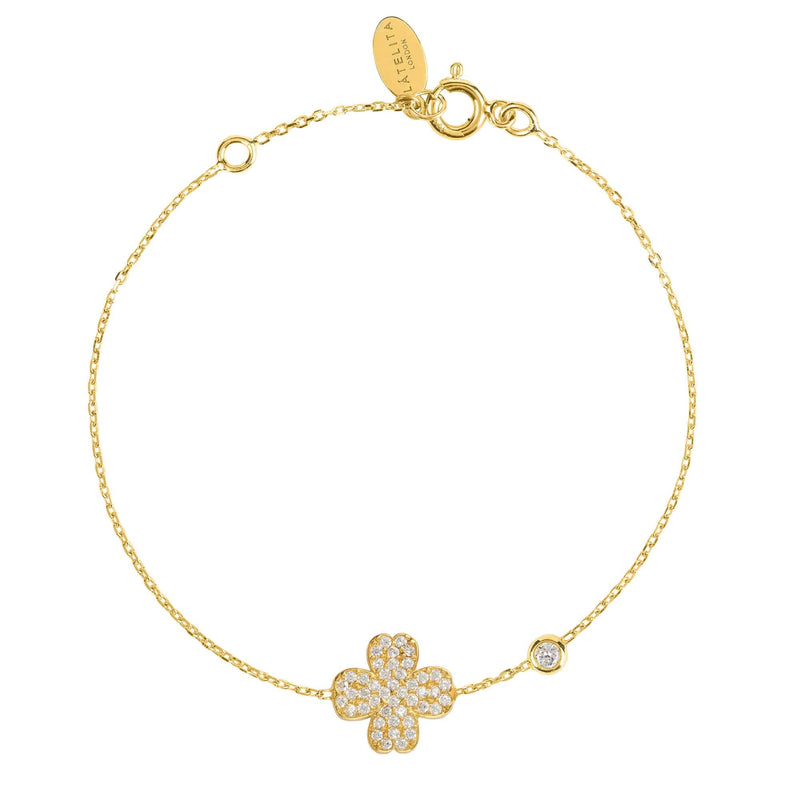 Lucky Four Leaf Clover Bracelet - LATELITA