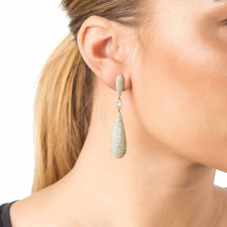 Coco Long Drop Earrings Rosegold