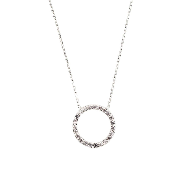 Halo Sparkling Circle Necklace - LATELITA