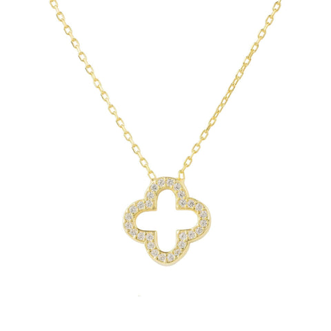 Open Clover Pendant Necklace