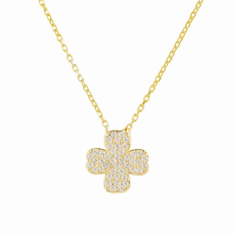 Lucky Four Leaf Clover Necklace - LATELITA
