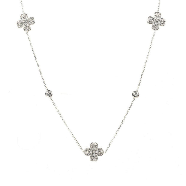 Necklace long Clover Silver - LÁTELITA - 1