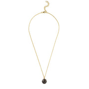 Diamond & Sapphire Evil Eye Necklace Gold - LATELITA