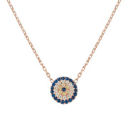 Evil Eye Necklace Rosegold - LATELITA