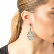 Celtic Aoife Earring Oxidised