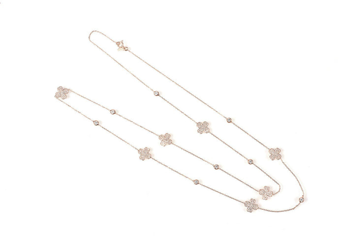 Necklace long Clover Rosegold - LÁTELITA - 2