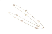 Necklace Long Hollow Clover Rosegold - LÁTELITA - 2
