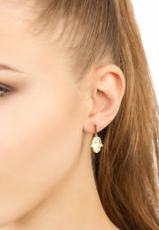 Bubble Fish Stud Earrings Gold