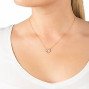 Lulu White Pearl Pendant Necklace Rosegold