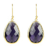 Gold Single Drop Earring Amethyst - LÁTELITA - 1