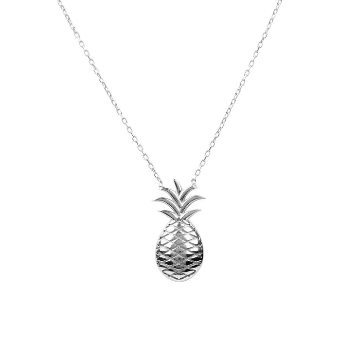 Pineapple Fruit Necklace Silver - LATELITA