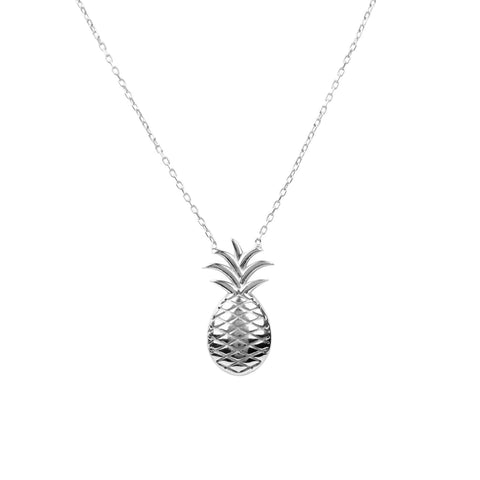 Pineapple Fruit Necklace Silver