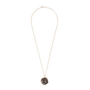Roman Coin Pendant Necklace rosegold