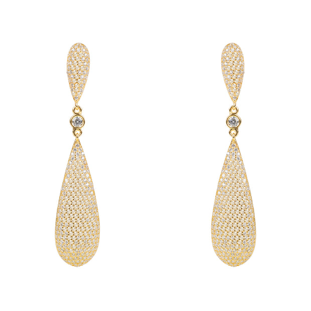 Coco Long Drop Earrings Gold