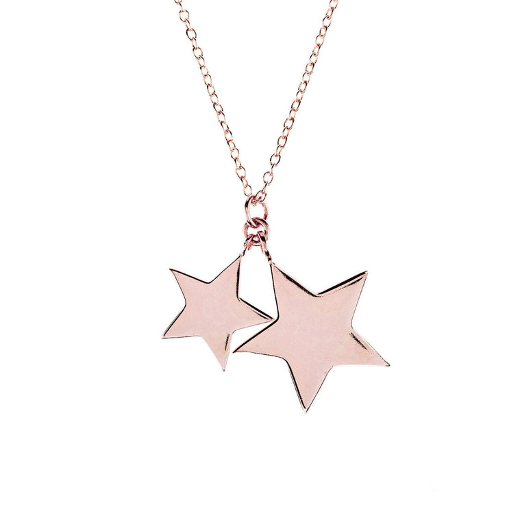 Cosmic Double Star Pendant Necklace - LATELITA