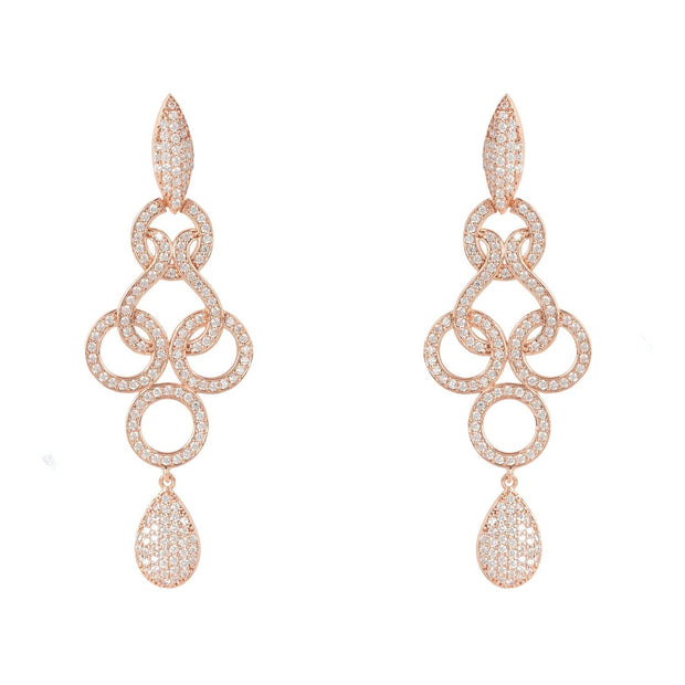 Shannon Celtic Knot Earrings Rose Gold