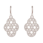 Celtic Knot Aoife Drop Earring Silver