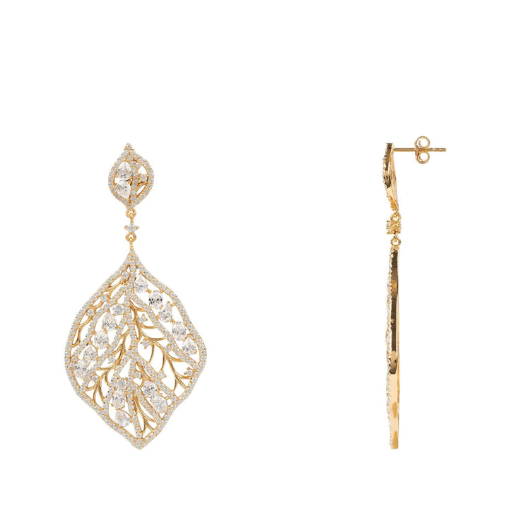 Enchanted Forest Earring Gold - LATELITA