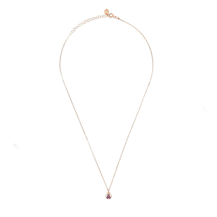 Lady Bug Ladybird Pendant Necklace Rosegold - LATELITA