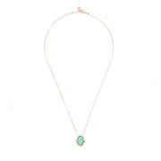 Green Opalite Hamsa Necklace Rosegold