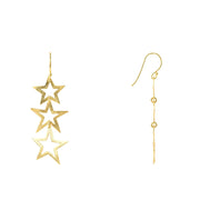 Triple Open Star Earring - LÁTELITA - 8