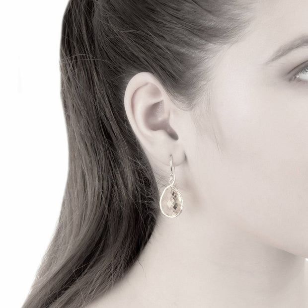 Petite Drop Earring Amethyst Hydro Gold - LATELITA